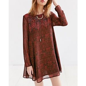 Urban Outfitters Ecote Meredith Trapeze Dress